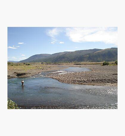 Fly Fisherman - Soda Butte Creek Photographic Print