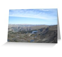 Beartooth Scenic Highway - Summit and Cirques Greeting Card