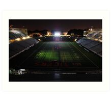 Princeton University Football Staduim at Night Art Print