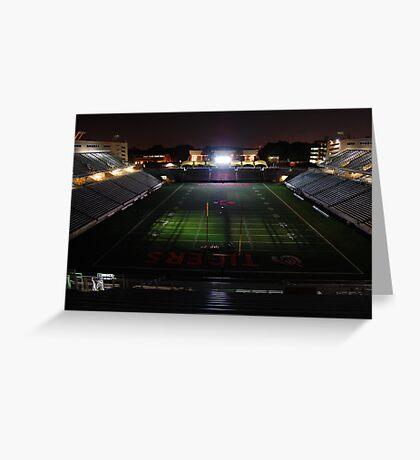 Princeton University Football Staduim at Night Greeting Card
