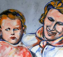 Motherhood - Baby Anthea and Mother by Anthea  Slade
