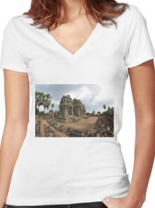 Phnom Krom Women's Fitted V-Neck T-Shirt