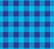 Buffalo plaid in blue and light blue. by linepush