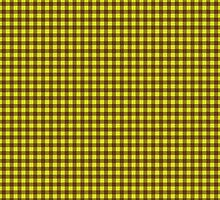 Buffalo plaid in brown and yellow. by linepush