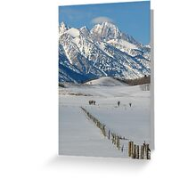 Grand Teton & Cap Cloud Greeting Card