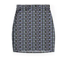 New skirt 1, MODern Plaid,  multi-blue Mini Skirt