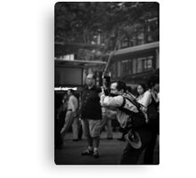 Everybody knows you're a tourist. Canvas Print