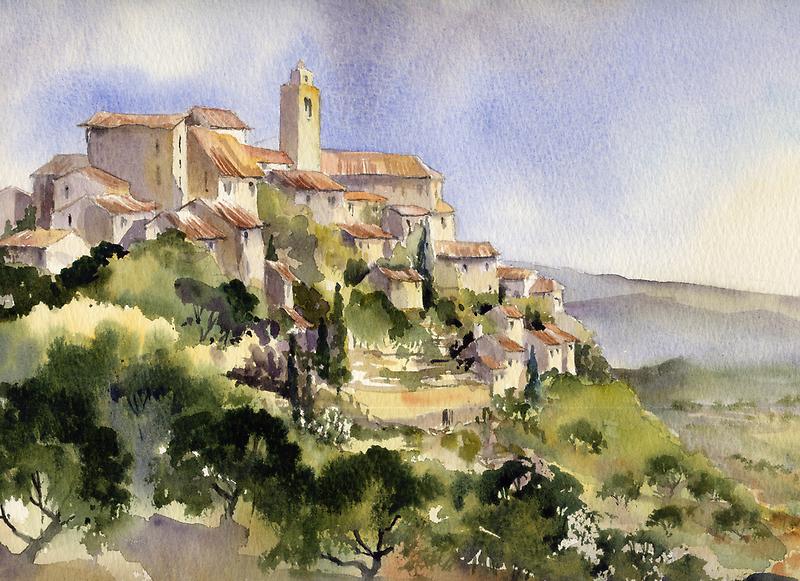 Afternoon Sun Tuscany by artbyrachel
