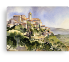 Afternoon Sun Tuscany Canvas Print