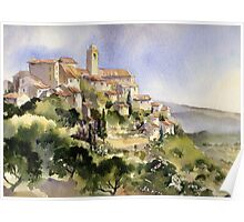 Afternoon Sun Tuscany Poster