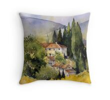 Morning in Tuscany Throw Pillow