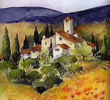 Evening in Tuscany by artbyrachel