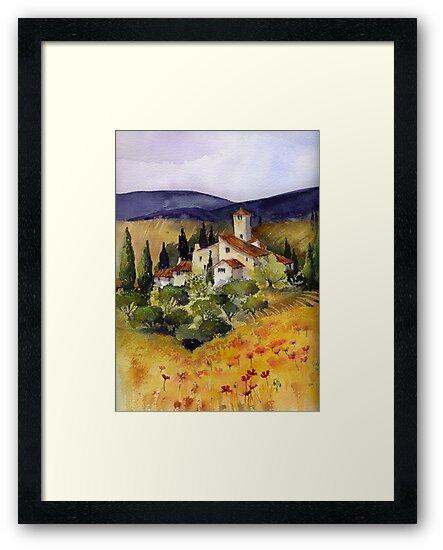 Evening in Tuscany by artbyrachel