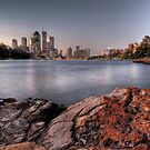 Kangaroo Point  Brisbane by William Bullimore