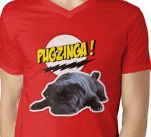 PUGZINGA!  Mens V-Neck T-Shirt