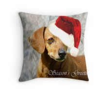 Rusty's Greetings Throw Pillow