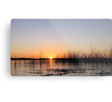Sunrise Over An Icy Lake Metal Print