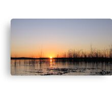 Sunrise Over An Icy Lake Canvas Print