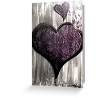 open your heart [greyscale] Greeting Card