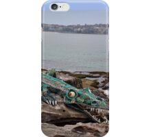 Crocodile @ Sculptures By The Sea, Sydney 2012 iPhone Case/Skin