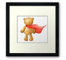 Watercolor Super Teddy Illustration Framed Print