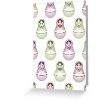 babushka wrap Greeting Card