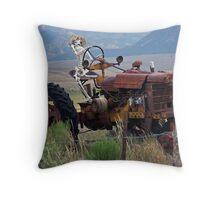 Overworked Farmer Throw Pillow