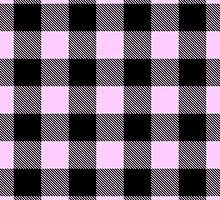 Buffalo plaid in pink and black. by linepush