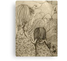 Beach Picnic Drawing Canvas Print