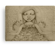 Affirmation Drawing Canvas Print