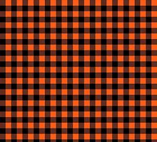 Buffalo plaid in black and orange. by linepush