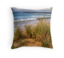 The grassy knoll at Apollo Bay in colour Throw Pillow