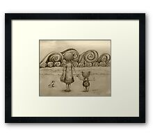 Beachcombers drawing Framed Print
