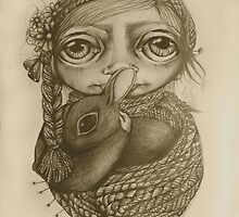 Lost and Found drawing by © Cassidy (Karin) Taylor