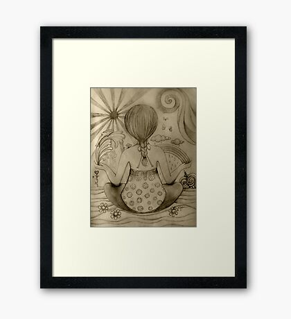 Serenity drawing Framed Print