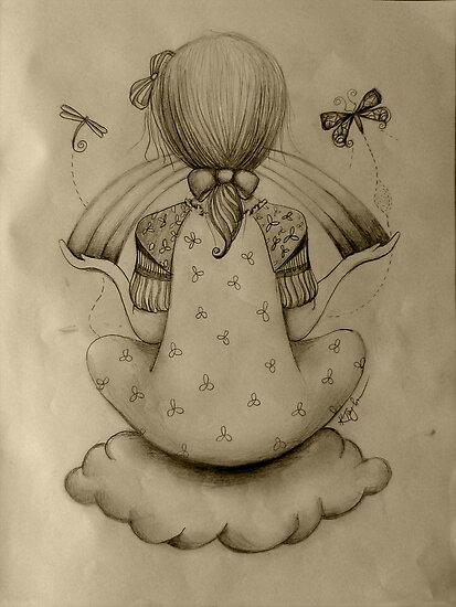 Cloud Nine drawing by © Karin  Taylor