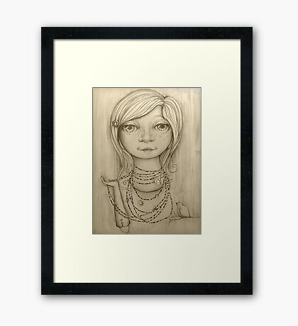 Love Beads drawing Framed Print