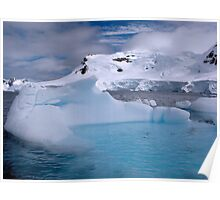 Chilling Blue - Paradise Bay, Antarctica Poster