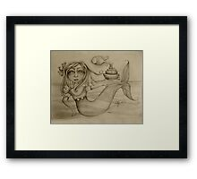 Rendezvous drawing Framed Print