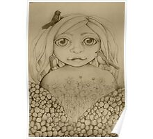 Nature's Child drawing Poster