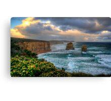 Sun setting over the twelve apostles in landscape Canvas Print