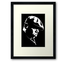 Biggie Smalls WHT on BLK Framed Print