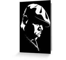 Biggie Smalls WHT on BLK Greeting Card