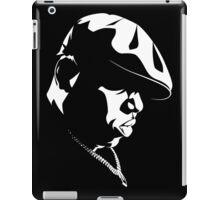 Biggie Smalls WHT on BLK iPad Case/Skin