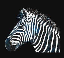 Zebra Galaxy Blue Kids Tee