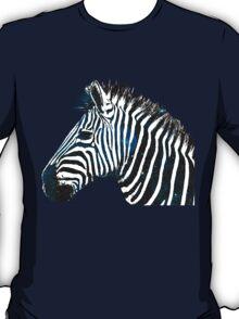 Zebra Galaxy Blue T-Shirt