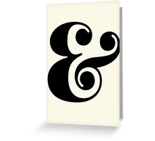 Ampersand. Greeting Card