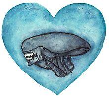 Xenomorph Love by flammablepony