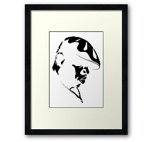 Biggie Smalls BLK on WHT Framed Print