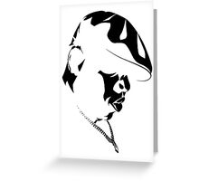 Biggie Smalls BLK on WHT Greeting Card